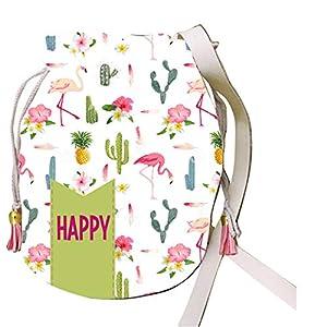 ARTEMODEL BOLSITO Rizado Cactus Flamenco Happy, Multicolor (1)
