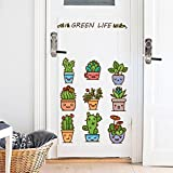 Pmhhc Wandsticker Karikatur Schlafzimmer Cartoon Ausdruck Vergossen Treppen Schrank Kühlschrank Herausnehmbarer Dekorativer Hintergrund