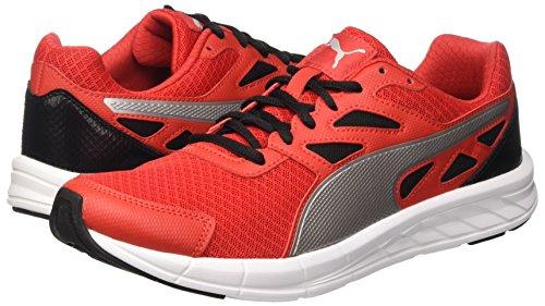 Puma , Herren Sneaker High Risk Red/Argento/Nero