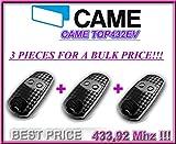 Telecomando per porta del garage Came TOP432EV (2 canali, 433,92 MHz), 3 pezzi Telecomando originale di alta qualità al miglior prezzo!