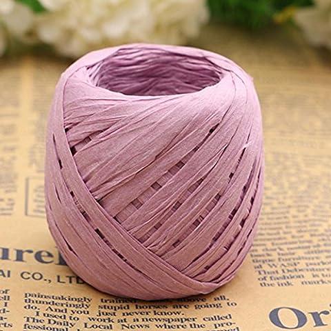 Ungfu Mall 20m colore rafia nastro di carta decorazione fiore Scrapbooking regalo Purple