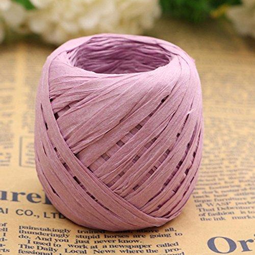 Ungfu Mall 20m Farbe Raffia Papier Band verziert Blumen Geschenk Scrapbook Wrapping -
