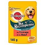 Pedigree Sa Récompense - Mini Bouchées au bœuf et fromage pour chien, 1 sachet de 140g de friandises