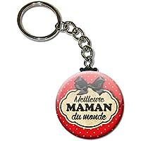 Meilleure MAMAN du monde Porte clés chaînette 38mm ( Idée Cadeau pour la Fête des Mères Noël Anniversaire )