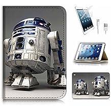 (para iPad Mini 4, generación 4) tipo libro funda y protector de pantalla Paquete. A4127Star Wars BB8