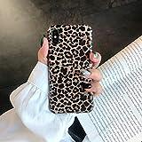 WZYSJK Coque TPU Sexy Léopard pour iPhone 6 6S 7 8 Plus XS Max Grain Doux Couverture Givrée Douce pour iPhone X XS XR Housse en Silicone