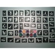 100 plantillas (mixta) para tatuajes brillo / aerógrafo / henna / pasteles / muchos otros usos niños niñas