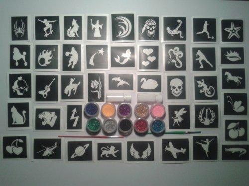 200-pochoir-de-tatouage-pour-les-tatouages-paillettes-art-corporel-10-paillettes-couleurs-garcons-fi