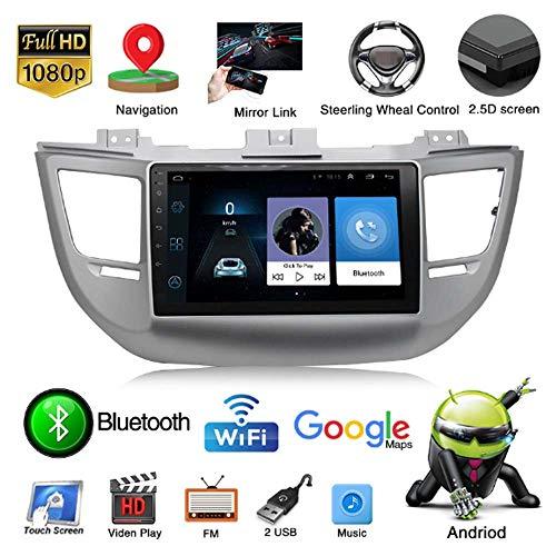 Car Navigation, Geeignet für 2015-2019 Hyundai Tucson 9-Zoll-Auto-Video-Player Android 8.1 Car Audio Funk-GPS-Navigator