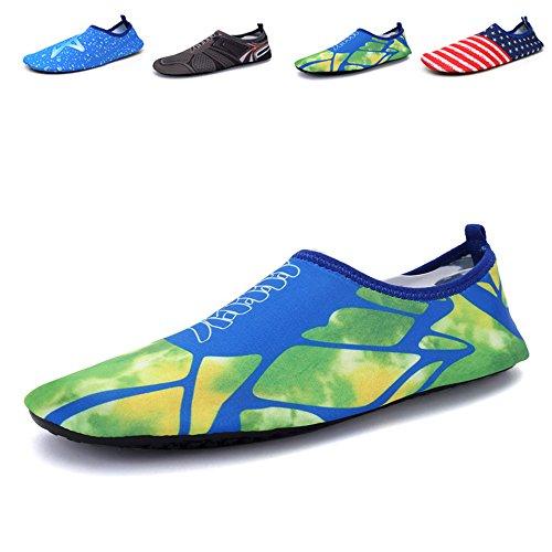 Santiro Unisexe Chaussures de Sport Aquatique Chaussons de Surf / Plong¨¦e / Plage Piscine Beach Natation Gym Yoga Les Amants de Skin Shoes.SSD011N1-M