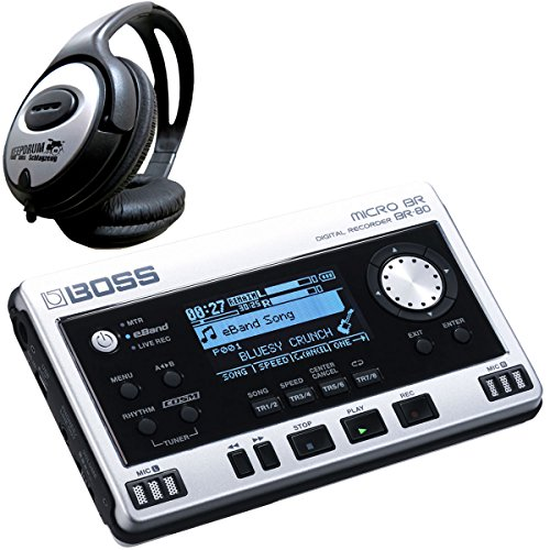 Boss BR-80 Digital Recorder + keepdrum Kopfhörer (Boss Micro Br)