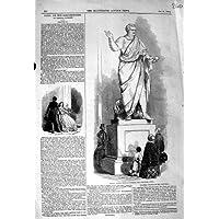 1846 SCAMBIO COLOSSALE DUBLINO DI STATUA DI