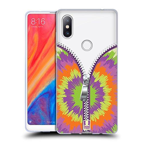 Head Case Designs Tie Dye Zip It Series 2 Soft Gel Hülle für Xiaomi Mi Mix 2S (Tie-dye-mix)