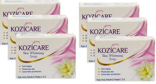 Healthvit Kozicare Skin Whitening Soap, 75g (Pack of 6)