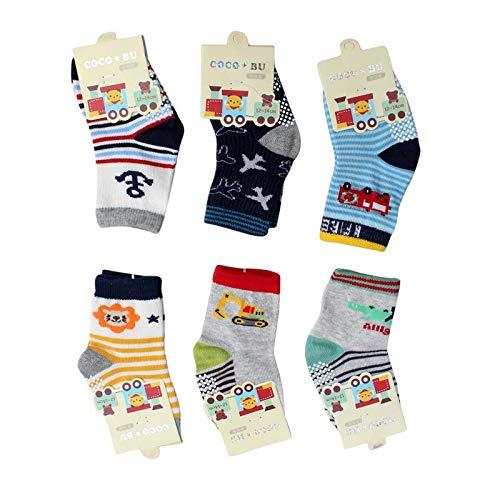 Baby Boy Cotton Anti-skid Combo Pack Socks (Multicolour, 3-4 Years)