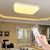 AGM 48W LED Lámpara de Techo Regulable con Control Remoto para Salón Dormitorio Estudio Cocina
