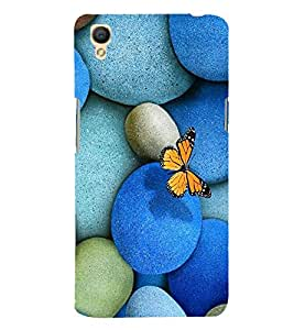 Fabcase rocks stones butterfly flying over girl girly lovely design Designer Back Case Cover for Oppo A37
