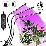LED Pflanzenlampe SOLMORE 27W Grow Lampe Pflanzenlicht Pflanzenleuchte mit Timing Wachstumslampe