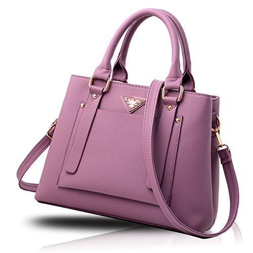 Tisdaini Borsa delle donne di affari del messaggero del raccoglitore dell'unità di elaborazione dell'unità di elaborazione della borsa della borsa delle donne casuali retro Viola scuro