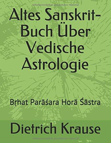 Altes Sanskrit-Buch Über Vedische Astrologie: Bṛhat Parāśara Horā Śāstra