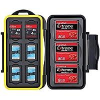 Flashwoife Turtle-SD6CF3MSD12 wasserdichte Speicherkarten Schutzbox für 3x CF, 6x SDHC und 12x MicroSD patentierte Aufnahme, Cards Case in schwarz/gelb