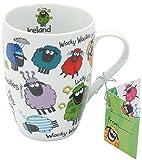 Wacky Woollies Becher mit lustigen Schafen. Tee- oder Kaffeetasse.