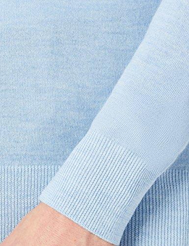 MERAKI Merino Pullover Herren mit V-Ausschnitt Blau (Sky Blue Marl)