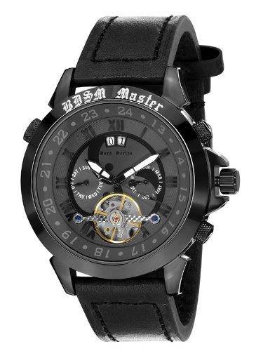 Calvaneo 12544 - Reloj para hombres, correa de cuero color negro
