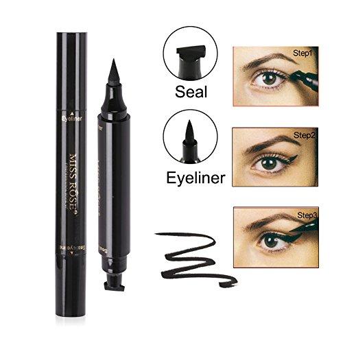 Oyalaiy Liquid Eyeliner Pen + Stamp Stencils Sceau Smoky Eye Eye Stimuleuses