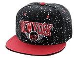 Casquette chapeau très à la mode apprécié des jeunes et des sportifs pour son aspect léger et pratique Hip-hop cap fille garçon unisex en PROMOTION une bonne idée de cadeau de noel ou d'anniversaire, choisir:Cap-104 NY noir rouge