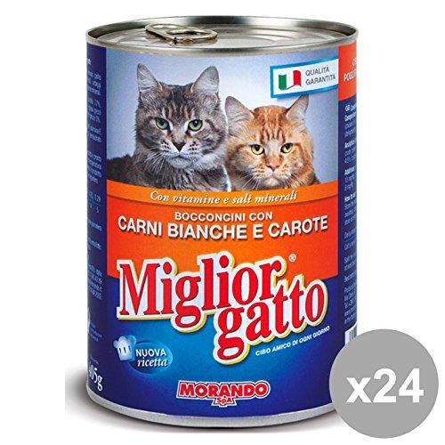 Set 24 MIGLIOR GATTO 405 Gr. Umido Bocconcini Carni Bianche-CAR. Cibo per gatti
