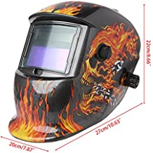 Kalttoy Solar Auto Darkening Casco Soldadura Mascarilla Gafas UV/IR Presevation Skull Flame