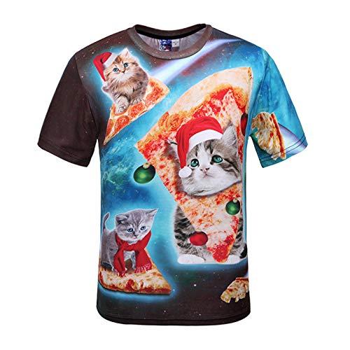 JUFENG Spiderman T-Shirt Unisex Bedrucktes T-Shirt Fitness Shirt Casual Heroes Cosplay Kurzarmshirts Trend Der Jugend,H-M