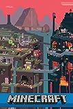 1art1 64040 - Póster de Minecraft (91 x 61 cm)
