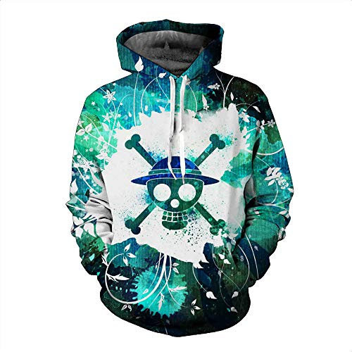 DTYTX 3D HD Unisex Hoodie Print Sweatshirts Mantel Tops Pullover Cosplay Langarm Sportbekleidung One Piece XXL
