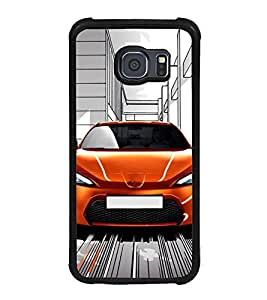 Fuson Premium 2D Back Case Cover Race car With Multi Background Degined For Samsung Galaxy S6::Samsung Galaxy S6 G920