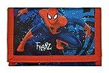 Geldbeutel mit Namen | Motiv Spiderman inkl. Namensdruck | Bedrucken & Personalisieren | Geldbörse Kindergeldbeutel Klarsichteinschub Klettverrschluss Münzfach