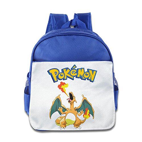 Kid Cartoon Pokemon Charizard Schule Tasche Blau Königsblau Einheitsgröße
