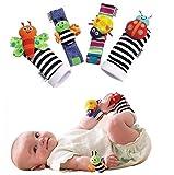 #8: Futurekart™ Fashion 4 X Baby Infant Soft Toy Wrist Rattles Hands Foots Finders Developmental Lamaze