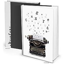 XXL Cuaderno Blanco y Negro en Blanco Libro selbgestalten DIN A4 libro vintage Nostalgie Máquina de