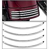 eclear acentos de cromo guardabarros trasero para Harley calle se desliza FLHX Road Glide