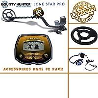 Bounty Hunter – Detector de Metales Lone Star Pro con Protector de Disco ...