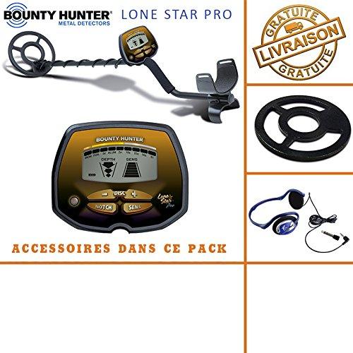 Bounty Hunter-Knacken tecteur, © Rate Lone Star Pro mit seinem protã ¨ GE Festplatte und Kopfhörer - Metal Ace Garrett Detector