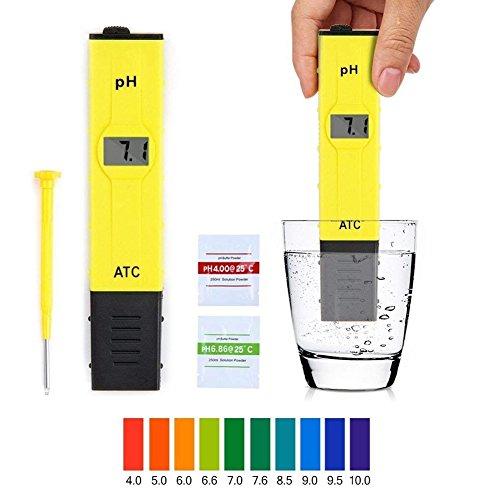 Supband Digital PH Meter Messgerät, PH Wert Meter Messgerät Messer Tester mit 0,00-14,00 für Aquarium Schwimmbecken Haushalt Labordigitalen Aquarium Pool hydroponischen Wasserlabor