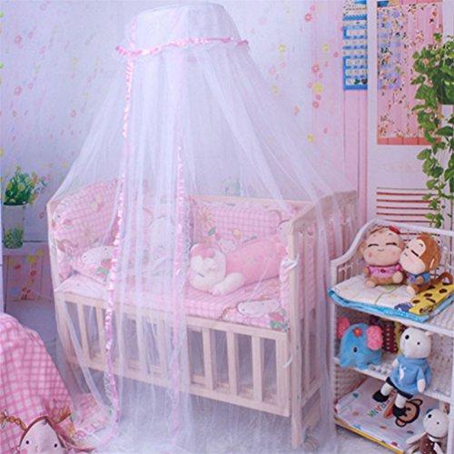 Zanzariera per lettino culla Hanging Bismarckbeer traslucido letto baldacchino compensazione tenda Kids Room Decor Pink taglia unica