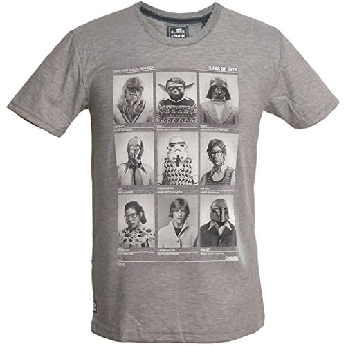 CHUNK Star Wars T-Shirt Class of 77, grey marl - Skywalker, Chewie, Yoda, Hansolo, Lea, XXL