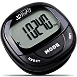 3DTriFit 3D Pedometer Activity Tracker | Best Pedometer for Walking with Pause Function