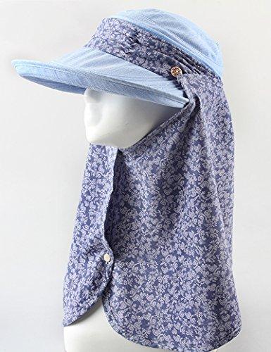 Chapeau de soleil d'été Été féminin chapeau de soleil Floral Protéger le cou Protéger le cou Grandes corniches Crème solaire de plein air mouvement chapeau de soleil Pour les voyages de plage sortants 2