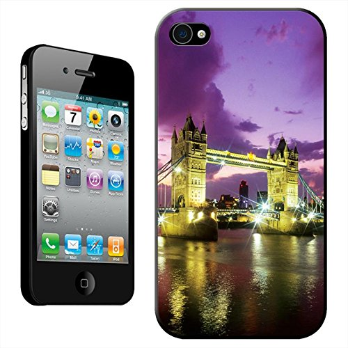 Fancy A Snuggle 'Double Decker Red Bus Big ben' Hard Case Clip On Back Cover für Apple iPhone 5C Tower Bridge At Night