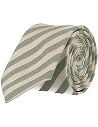 Strellson cravate étroite chaux blanc rayé 6 cm